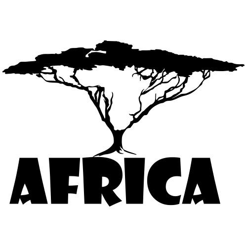 Africa Continent Tree - Men's Premium T-Shirt