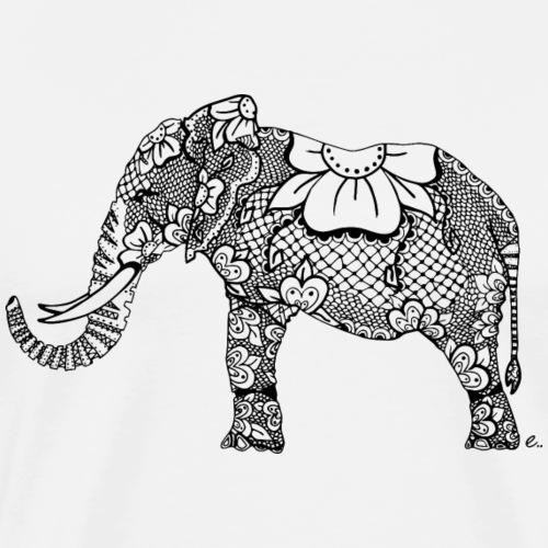 Éléphant oriental - T-shirt Premium Homme