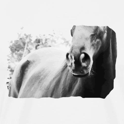 Nüstern Pferdenase Trakehner Geschenk Pferdenarren - Männer Premium T-Shirt