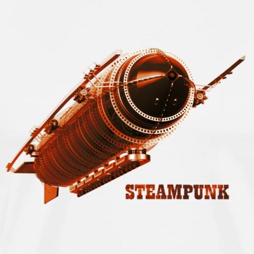 Steampunk Luftschiff Zeppelin Retro Futurismus - Männer Premium T-Shirt