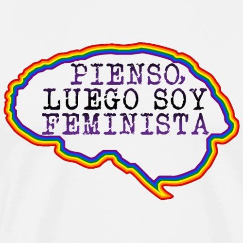 Cerebro- Pienso, luego soy Feminista - Camiseta premium hombre