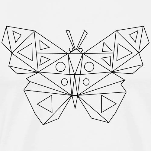 Low Poly Art - Schmetterling - Männer Premium T-Shirt