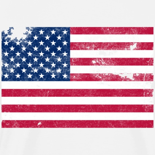 Distressed Stars and Stripes - Men's Premium T-Shirt