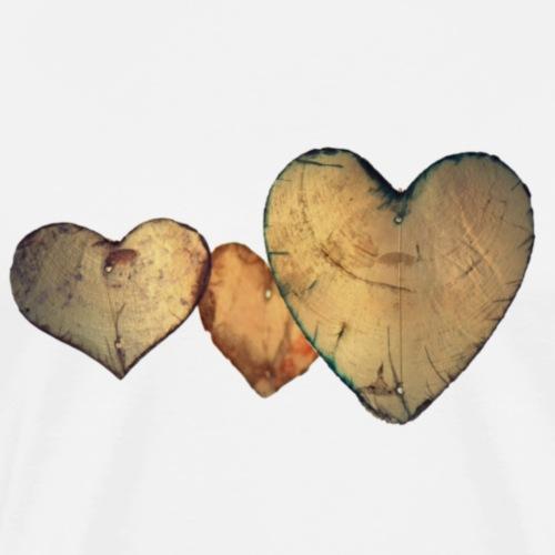 Wooden Heart - Camiseta premium hombre