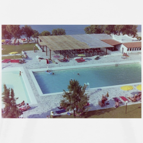 Vintage Pool Fotografie 70er Jahre Ibiza - Männer Premium T-Shirt