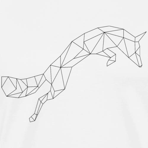 Fuchs schwarz geometrisch - Männer Premium T-Shirt
