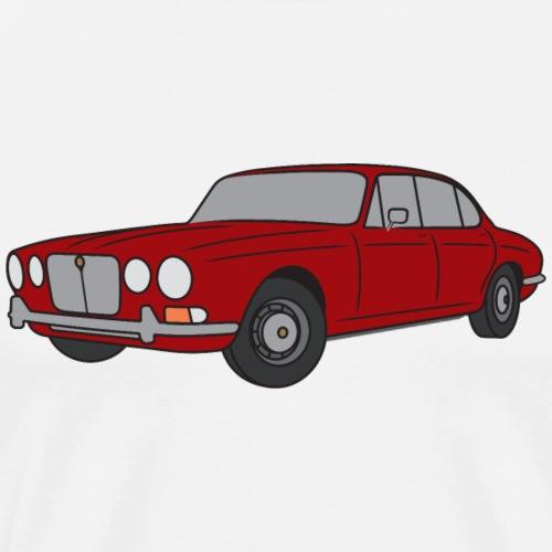 70s Jaguar XJ Signal Red - Simple - Men's Premium T-Shirt