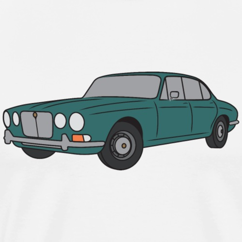 70s Jaguar XJ Turquoise - Simple - Men's Premium T-Shirt