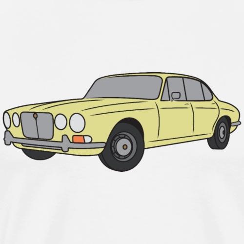 70s Jaguar XJ Pale Primrose - Simple - Men's Premium T-Shirt