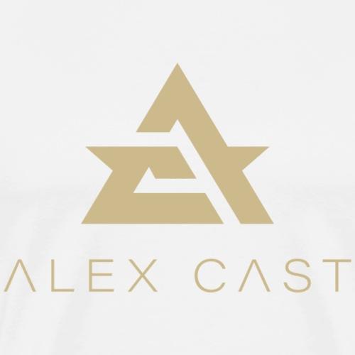 Alex Cast Official logo Gold - Miesten premium t-paita