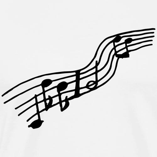 Noten Farbe anpassbar Musik Geschenk Lustig Ton - T-shirt Premium Homme