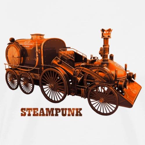 Steampunk Feuerwehr Retro Futurismus Fire - Männer Premium T-Shirt