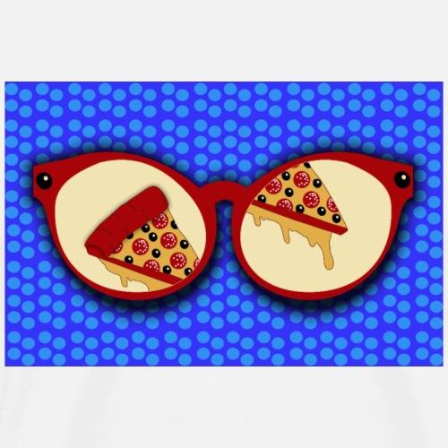 Bicchieri per amanti della pizza - Maglietta Premium da uomo