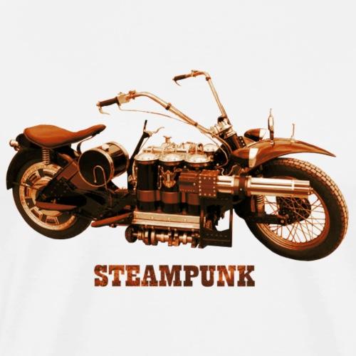 Steampunk Motorrad Bike Retro Futurismus - Männer Premium T-Shirt