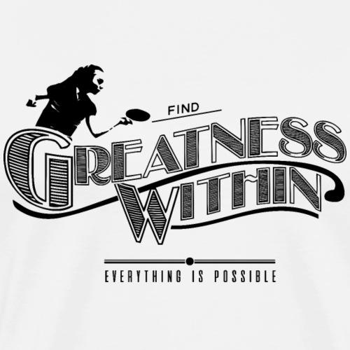 Finden Sie Größe in Girl Shirt Tischtennis - Männer Premium T-Shirt