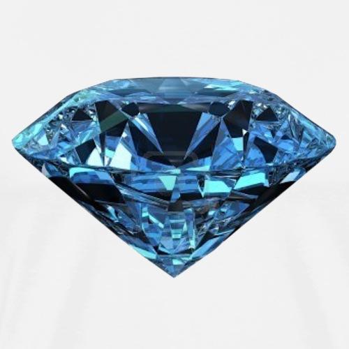 Diamant Juwel Mineral Edelstein Schmuck - Männer Premium T-Shirt