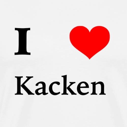 I Love Kacken - Männer Premium T-Shirt