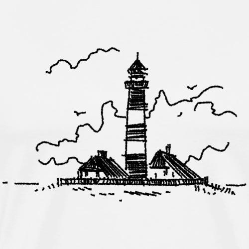 Leuchtturm Westerhever - Männer Premium T-Shirt