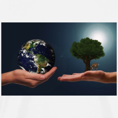 hands earth tree - Männer Premium T-Shirt