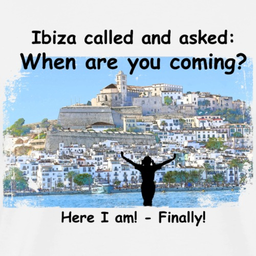 1071 - Ibiza called female - Männer Premium T-Shirt