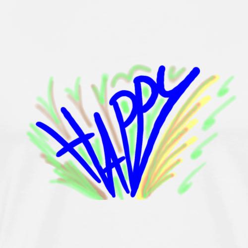 Happy - Maglietta Premium da uomo