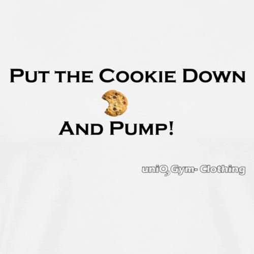 cookie black png - Männer Premium T-Shirt