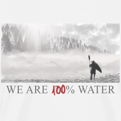 100% water.png - Camiseta premium hombre
