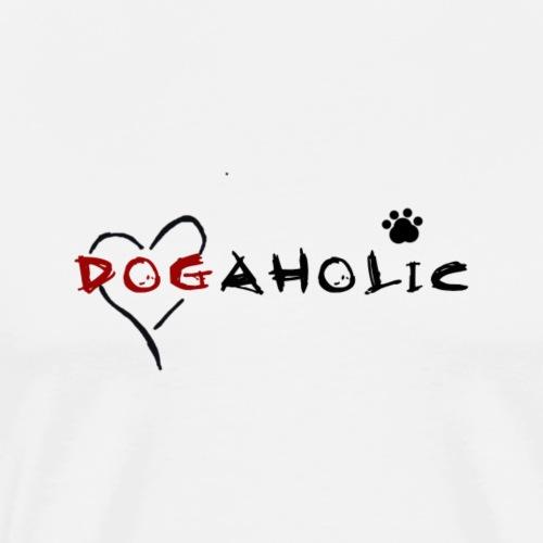 dogaholic schwarz - Männer Premium T-Shirt