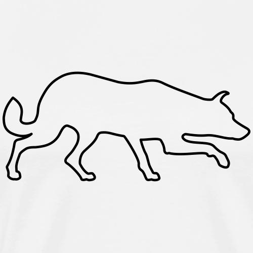 Hütehund Silhouette - Männer Premium T-Shirt