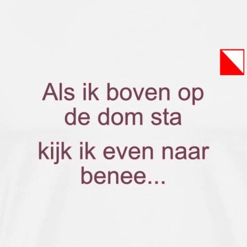 Als ik boven op de Dom sta mr verti def b - Mannen Premium T-shirt