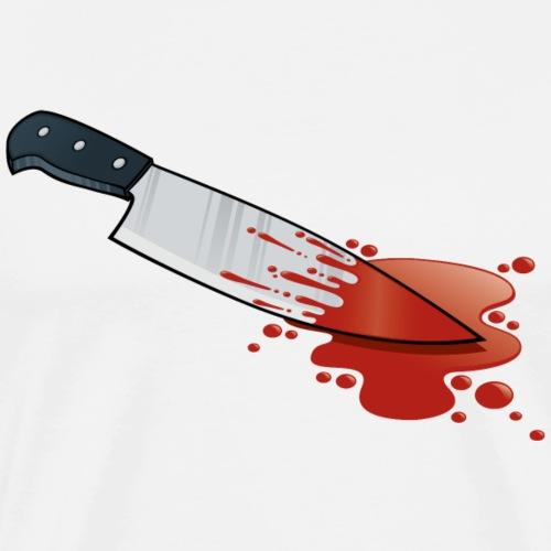 Kitchen Knife Blood - Men's Premium T-Shirt