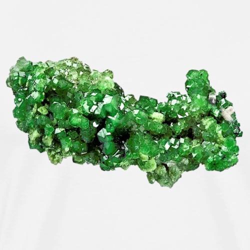 Granat Uwarowit grün Mineral Inselsilikat Schmuck - Männer Premium T-Shirt