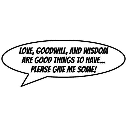 Love and Goodwill - Herre premium T-shirt