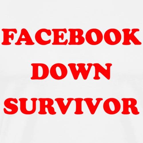 Facebookdown Survivor - Mannen Premium T-shirt