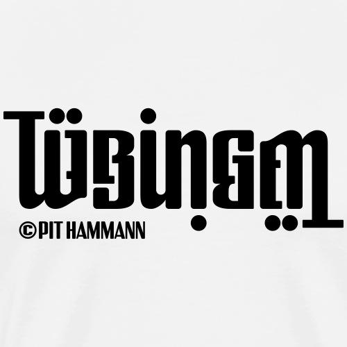 Ambigramm Tübingen 01 Pit Hammann - Männer Premium T-Shirt