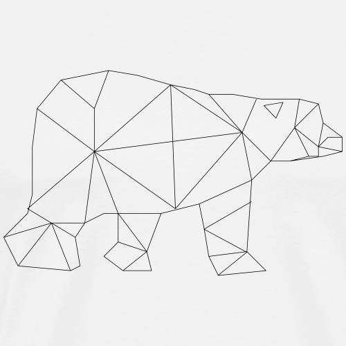 Low Poly Art - Eisbär - Männer Premium T-Shirt
