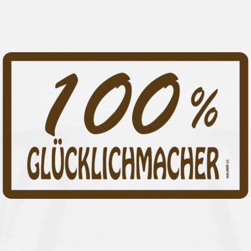 Glücklichmacher 100% - Männer Premium T-Shirt