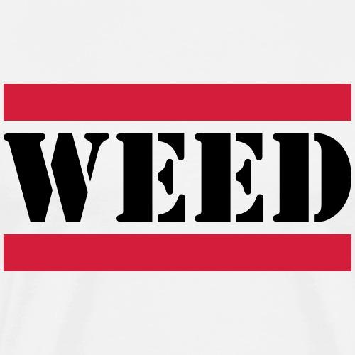 weed Schriftzug mit roten Linien - Männer Premium T-Shirt