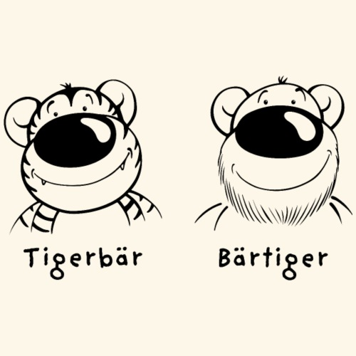 Tigerbär und Bärtiger - Männer Premium T-Shirt