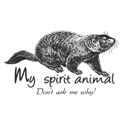 La marmotte est mon animal totem - T-shirt Premium Homme