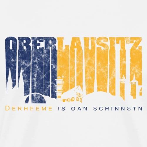 Oberlausitz Skyline - Fanartikel mit Retro Design - Männer Premium T-Shirt