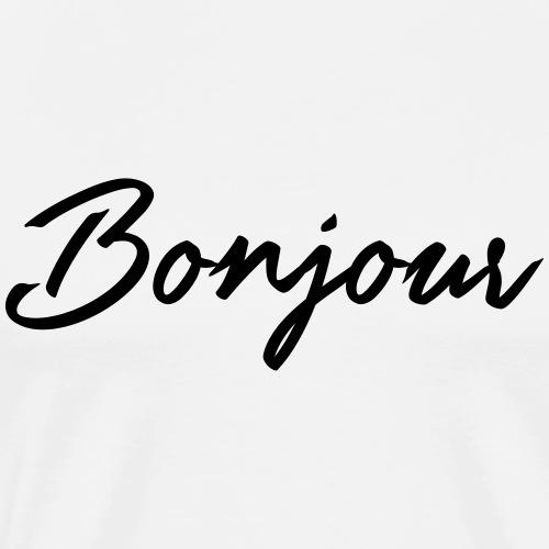 Guten Tag, Bonjour und Hallo- Typografie Design - Männer Premium T-Shirt