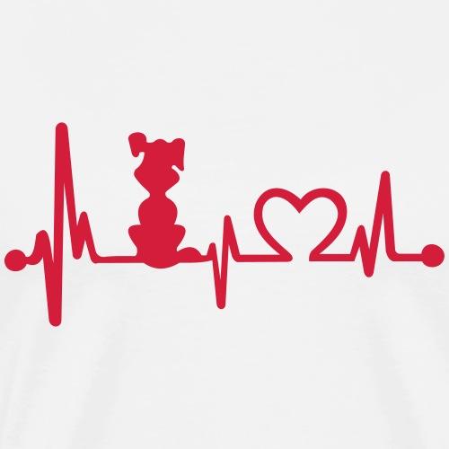 dog heart beat - Men's Premium T-Shirt