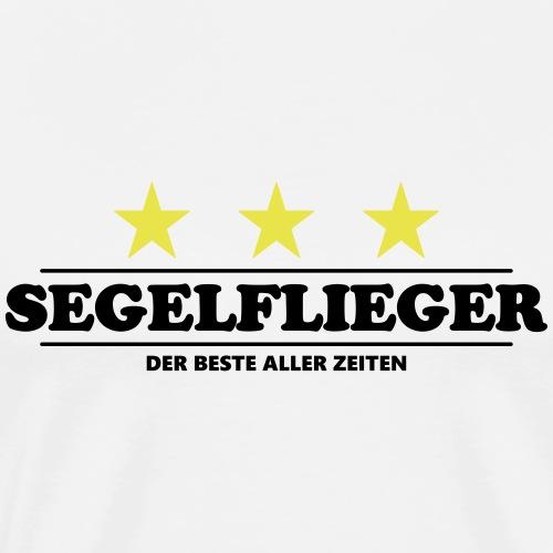 Segelflieger Segelflugzeug gleiten Geschenk Tshirt - Männer Premium T-Shirt