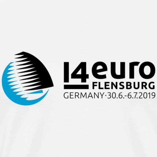 EURO2019 Logo & 14 Back - Männer Premium T-Shirt