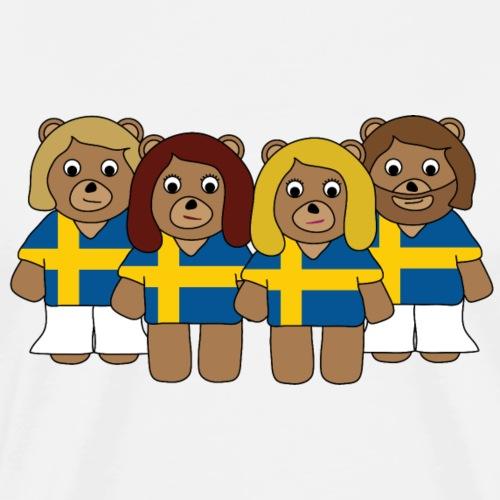 Abba Sweden Bears.png - Men's Premium T-Shirt