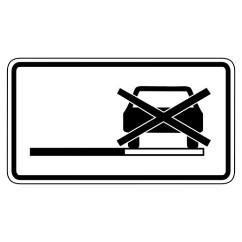 Parken verboten Tshirts Schild weiß - Männer Premium T-Shirt