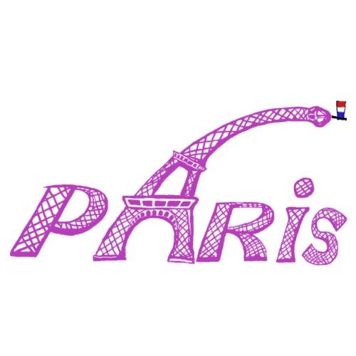 Paris fuchia - T-shirt Premium Homme