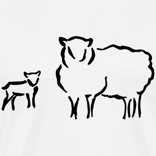 Schafzucht Lamm lustig Geschenkidee Familie Schafe - Männer Premium T-Shirt