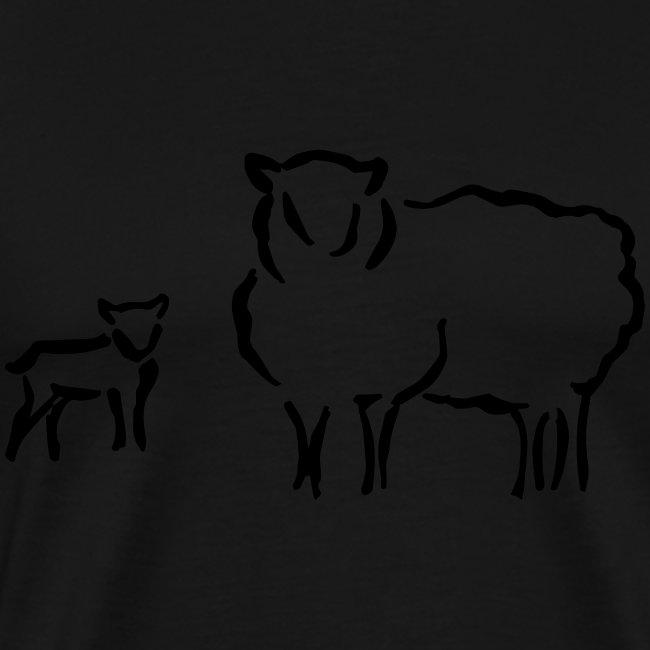 Schafzucht Lamm lustig Geschenkidee Familie Schafe